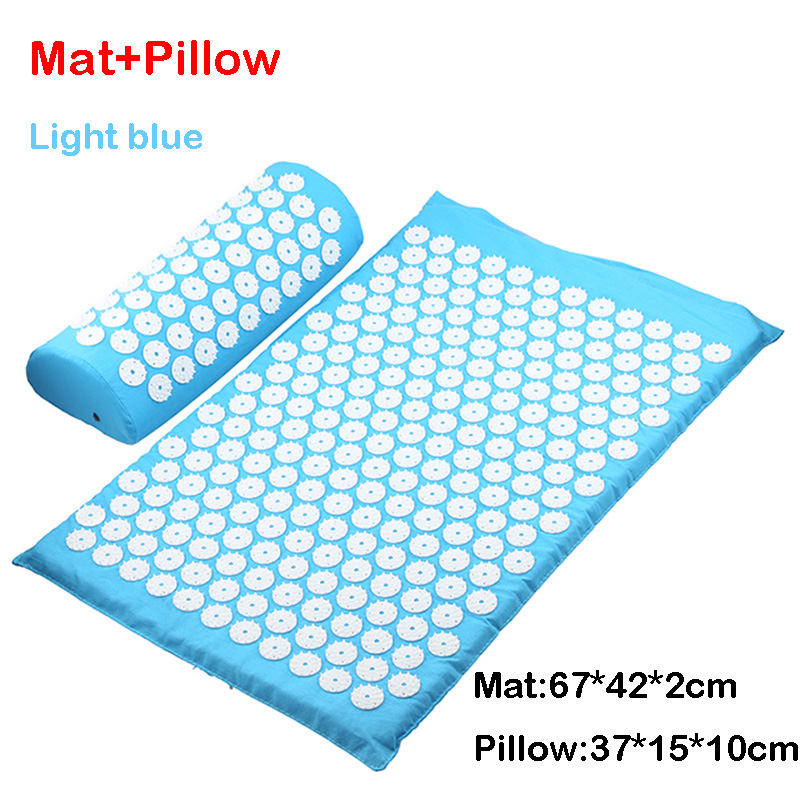 L blue mat pillow