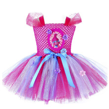 Sparkly Princess Trolls Tutu Dress Inspired Handmade Kids Kn