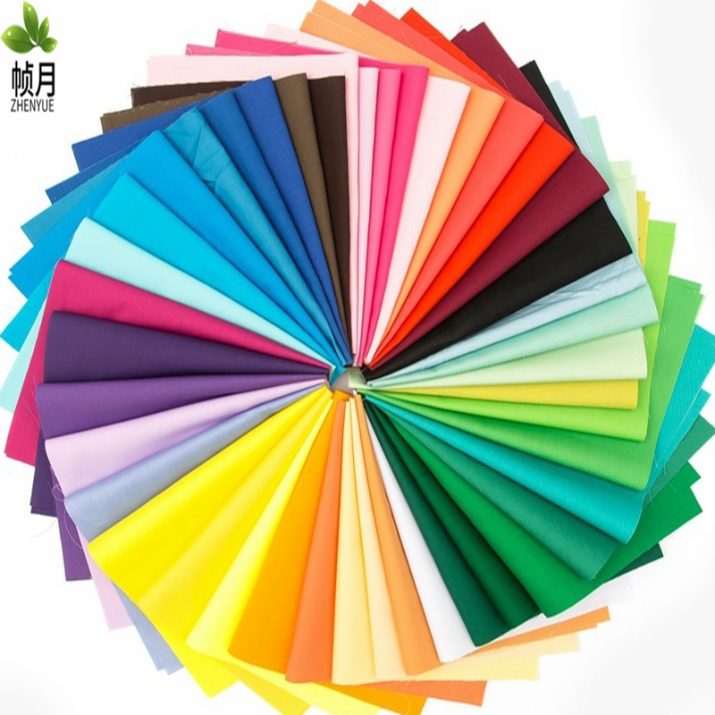 Solid Color 40pcs/lot,colorfulthin Plain Cotton Fabric Patchwork For Diy Quilting& Sewing,fat Quarters Bundle Tissue Tela Materi Buy Now