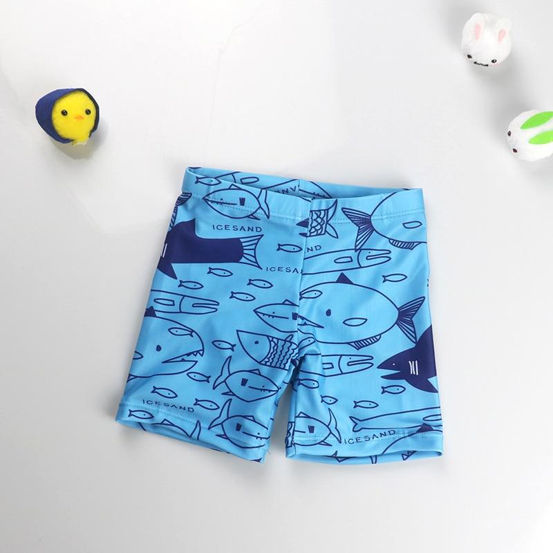 Boy Swim Trunks 2019 fish-printed Kids Boys' Beach Sport Swimming Trunks Child Beach Shorts Sports Swimsuit Swimwear