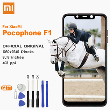 Xiao Mi LCD Touch Screen with Frame Original Display For Xiaomi PocoPhone F1 PocoPhoneF1 6.18 Replacement LCDs