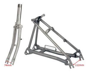 Титановая Велосипедная вилка для Brompton, складная передняя вилка, задняя Треугольная рама, 1 и 1/8 дюйма, легкая, 16 дюймов, оригинальная часть ра...