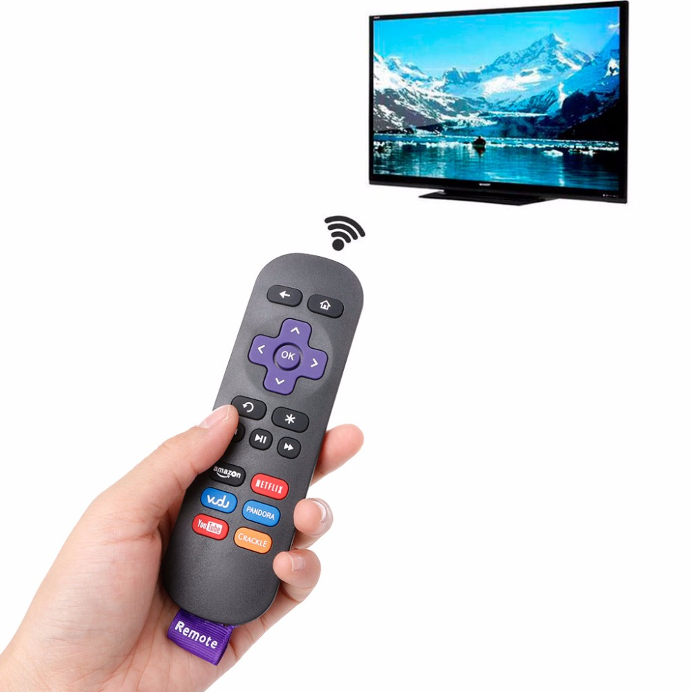 ALITER Anti-slip Remote Controls For ROKU 1 2 3 4 LT HD XD XS Replacement IR Streaming Media Player image