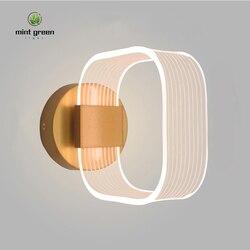 Kreatywna nowoczesna lampa sufitowa led zamontowana akrylowa 8W kinkiet ścienny do sypialni na ścianę W korytarzu lampara pared w Lampy ścienne od Lampy i oświetlenie na