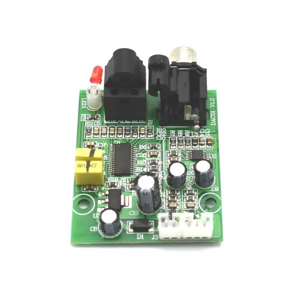 Digital Interface Module DAC Board CS8416 CS4344 24-bit 192K Optical Fiber Coaxial Input Stereo Audio Output A5-009