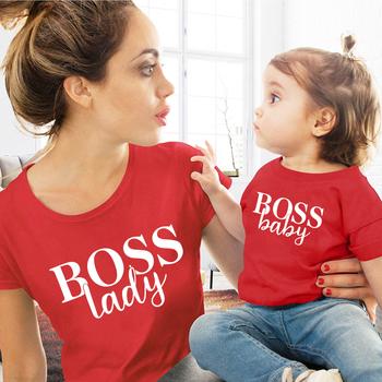 Mama i syn córka rodzina pasujące ubrania koszulki matka córka pasujące rodzinne stroje dzieci dziewczynka chłopcy Casual T shirt tanie i dobre opinie CN (pochodzenie) Na co dzień Krótki Pasuje prawda na wymiar weź swój normalny rozmiar COTTON Drukuj Matka i Córka
