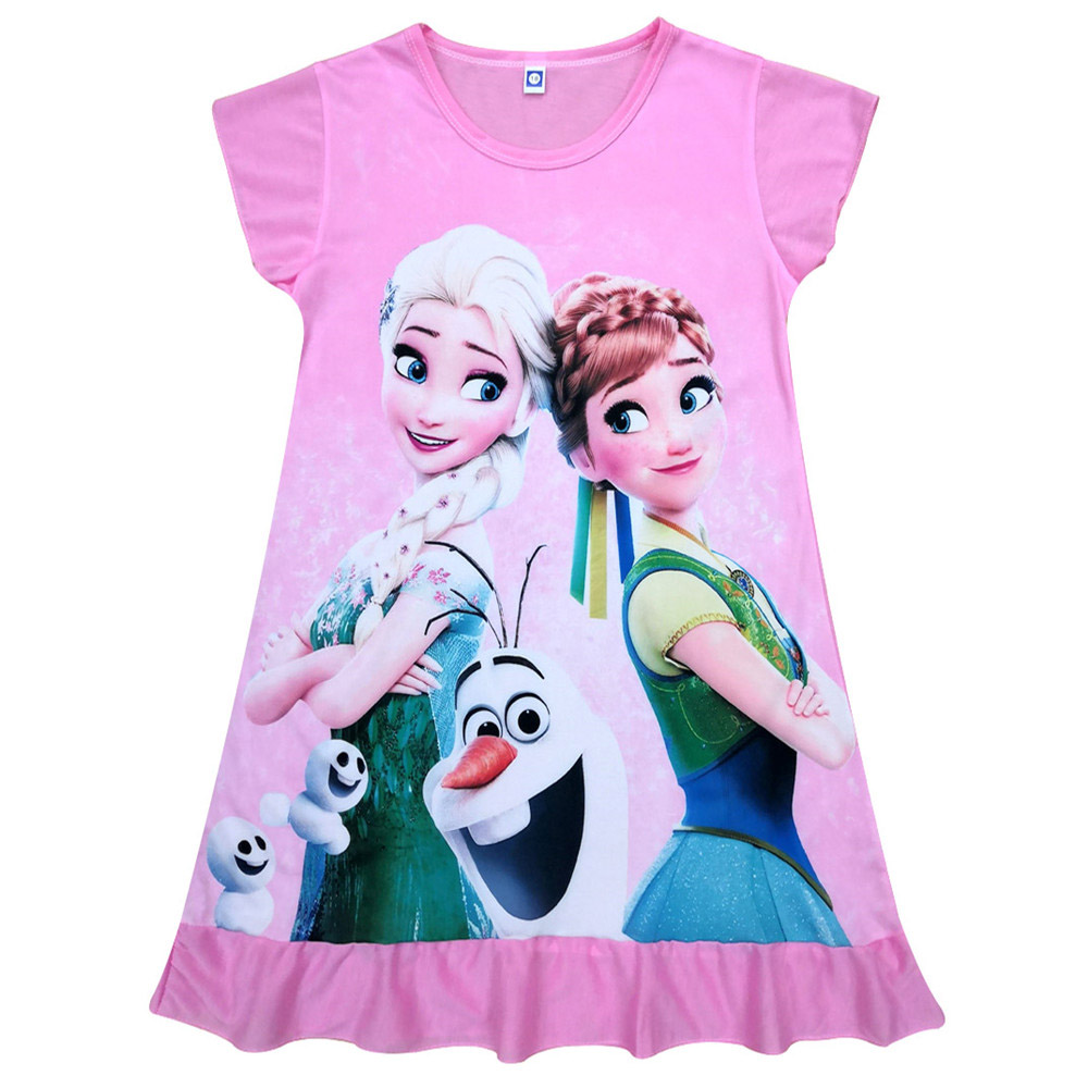 Girls Dress Summer Baby Children Kids Dresses For Girls Clothes Elsa Anna Olaf Sofia Princess Christmas Dress Vestidos Infantil