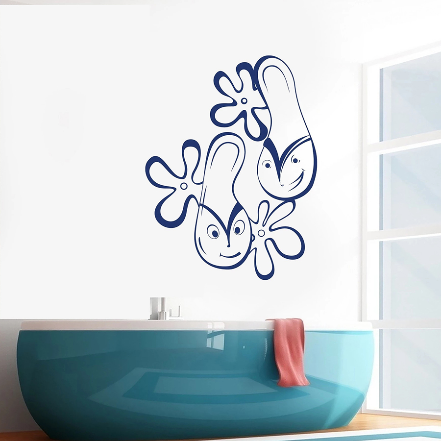 Wall Decal Funny Contour Flip Flops