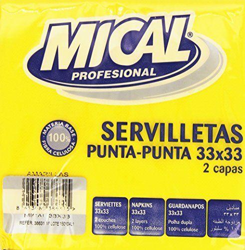 Mical Profesional - Servilletas Amarillas - 33 X 33 Cm - 50 Unidades