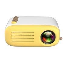 YG200 желтый и белый Портативный ЖК-проектор 320x240 MAX 1080P с HDMI USB AV SD входом для личного театра/детского образования