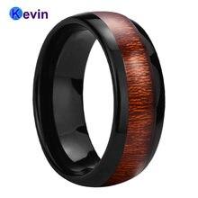 Обручальное кольцо из черного вольфрама для мужчин и женщин