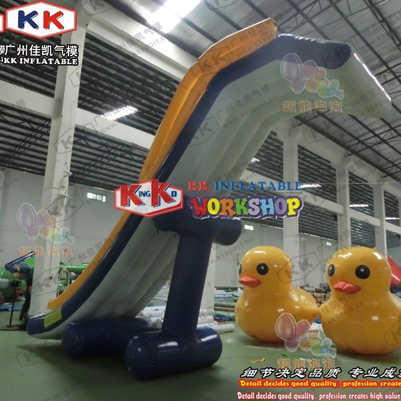 KK Factory Inflatable Dock Slide/ boat use Inflatable slide/ yacht water slide for sale - 5