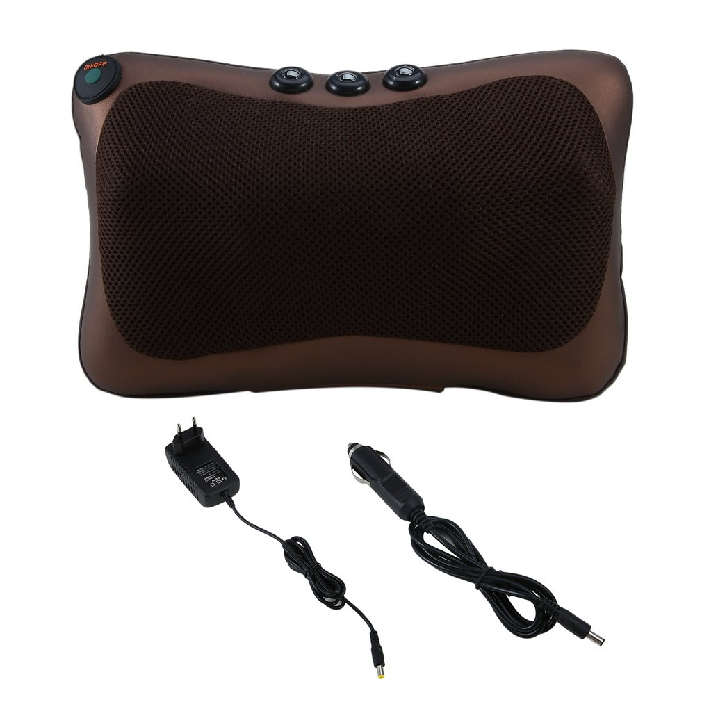 8/4 Head Neck Massager Car Home Shiatsu Massage Neck Relaxation Back Waist Body Electric Massage Deep-Kneading Pillow Cushion