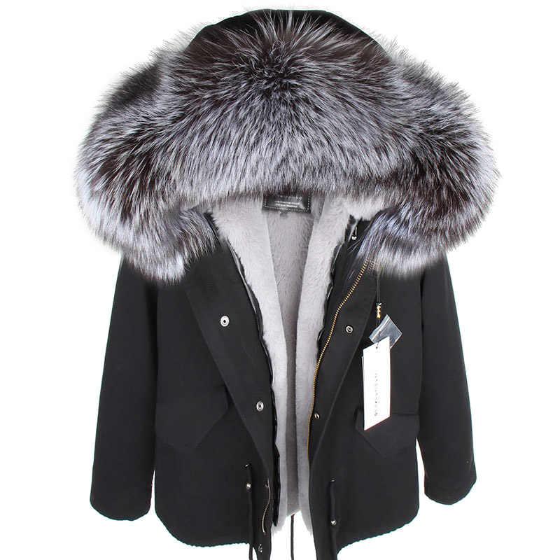 MMK ขนสัตว์จริงใหม่แฟชั่น Fox ฤดูหนาวขนสัตว์ผู้หญิงเสื้อผ้าที่ถอดออกได้หนาเสื้อ PIKE Coat