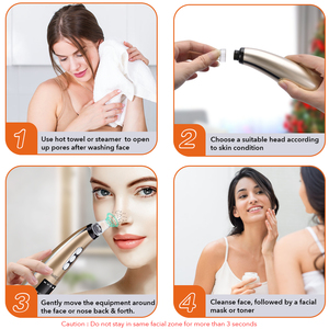 Image 5 - 5 Suction Power Vacuum Blackhead Remover Pore Cleaner Acne Extractor Tool LCD Display Face Exfoliating Machine Beauty Device