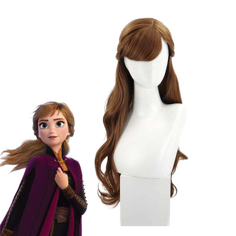 new Movie <font><b>Frozen</b></font> <font><b>2</b></font> <font><b>Anna</b></font> Festival Cosplay <font><b>Wig</b></font> props Full Halloween <font><b>wig</b></font> image