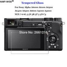 Для sony ILCE-A6000 A6100 A6300 A6400 A6500 A6600 A5000 A3000 NEX 7 6 5 3 закаленное Стекло с уровнем твердости 9H 2.5D защита для экрана камеры пленка