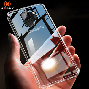 Ultra Slim Clear Case For Samsung Galaxy S10 E S8 S9 Plus S6 S7 Edge Note 4 5 8 9 A6 A7 A8 2018 A10 A30 A50 Hard PC Phone Cover(China)