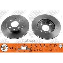 Диск Тормозной Nissan Kubistar/Renault Clio 91-/Kangoo 97-/Megane 96-99 Передний Rn1002 NiBK арт. RN1002