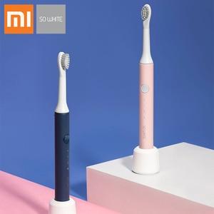 Image 5 - SOOCAS סוניק חשמלי מברשת שיניים PINJING EX3 Waterproof Inductive טעינה נקי קולי חכם מברשת שיניים ילד מתנות