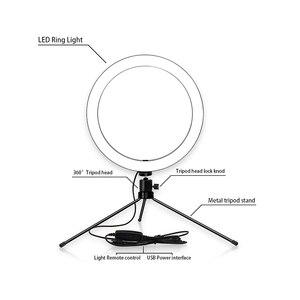 Image 3 - 6/8/10 インチ led リングライト iphone xs 最大 8 7 6 スマートフォン写真撮影メイク 3200  5600 18k 輝度調節可能な三脚スタンド