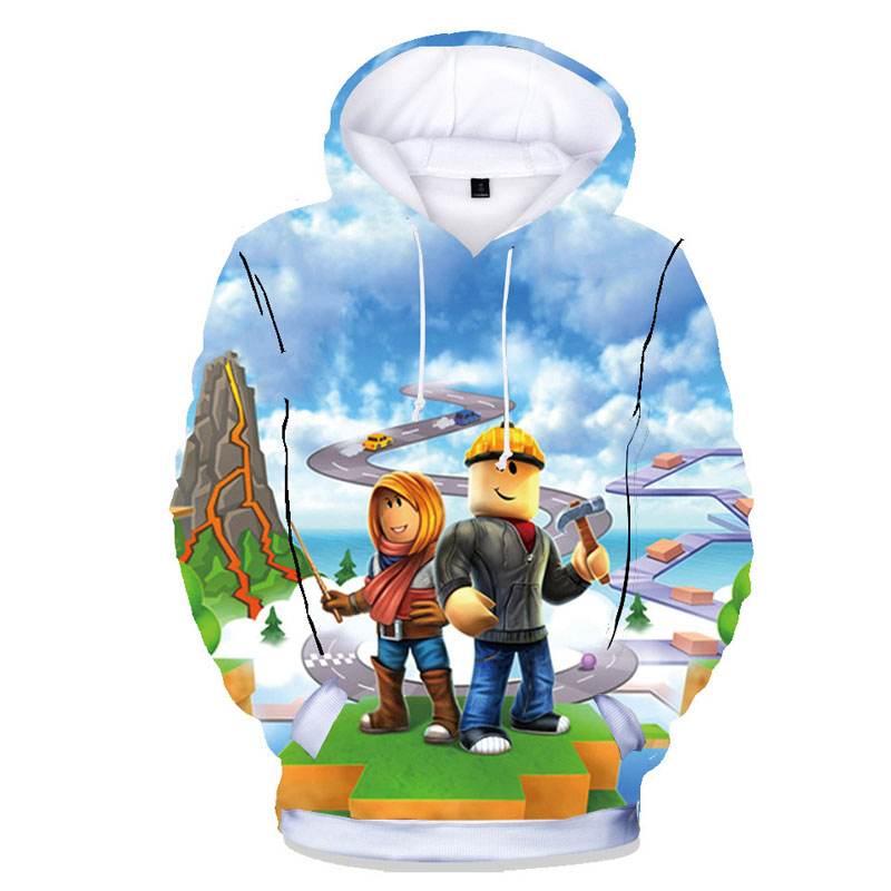 Spring Autumn Casual Children Sweatshirts Boys Girls Hoodies Game Pattern 100% Cotton Hoody Boy's Streetwear Tops