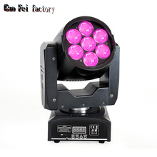 Dj Disco Stage-Light Lyre-Beam Moving-Head Mobile-Lamp Wash Dmx 7X12W RGBW Led Bee-Eye