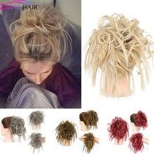 Искусственные синтетические резинки для волос, шиньон для наращивания, Женский бант для волос для девочек, аксессуары для волос, резинки для волос