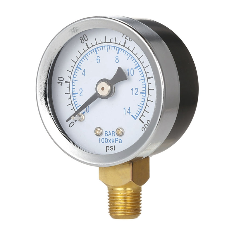 Ts-40-14 Bar 0-200 Psi 0-14 Bar Pressure Gauge 1/8 Male Npt Pressure Gauge Air Compressor Hydraulic Vacuum Gauge Manometer
