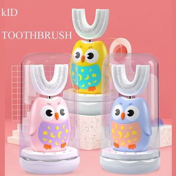Smart U shaped Kid Sonic Electric Toothbrush 360 degree uv self-cleaning Automatic soft sonic children electric brush toothbrush 360degree automatic whitening toothbrush u shaped electric toothbrush beauty instrument white electric toothbrush