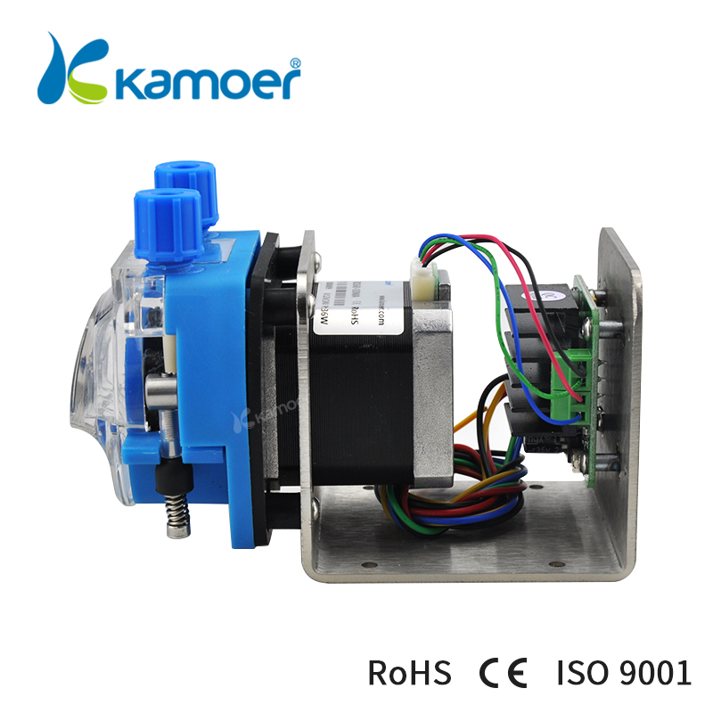 Kamoer KCM-ODM 12V/24V Mini Peristaltic Pump Head with Tube Small Flow Stepper Motor  ( 13.5~320ml/min, 4/8 rotors )