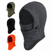 Fietsen 6 in 1 Thermische Fleece Balaclava Outdoor Ski Maskers Cyling Mutsen Winter Protector Wind Stopper Gezicht Hoeden(China)