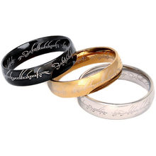 6mmtitanium aço um anel de ouro de potência o filme de anel lvers feminino e masculino jóias de moda