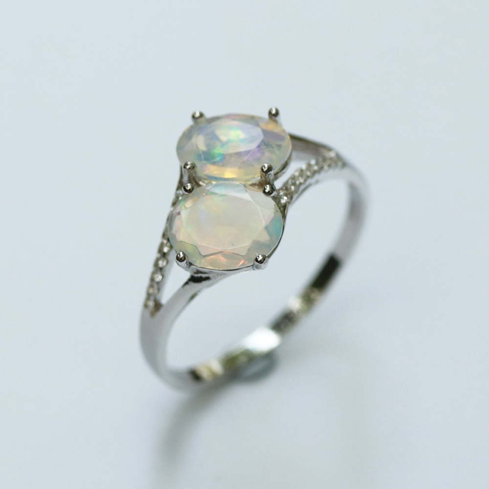 Image 5 - Opal Ring natural gemstone oval 6*8mm,solid 925 sterling silver  simple design fine jewelry Christmas for women,wife nice giftRings   -