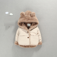 Girl boy Baby winter clothing outfits thick warm cotton outerwear for newborn baby boys girls clothes casual hooded jacket coats