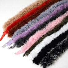 Ленты аксессуары для шитья кроличьего меха меховая отделка ленты пуховик пушистый DIY костюм