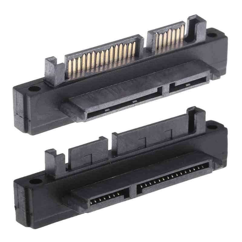 高速 500Mbps 90 度 7 + 15Pin Sata オス女性ポート変換アダプタ SATA HDD SSD ハードディスクドライブ右/左