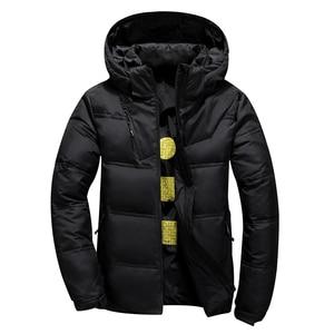 Image 2 - 2020 neue Winter Jacke Männer Mit Kapuze Dicke Warme Ente Unten Jacke Männer Parka Casual Hohe Qualität Herren Mantel Winter Unten mäntel Männer