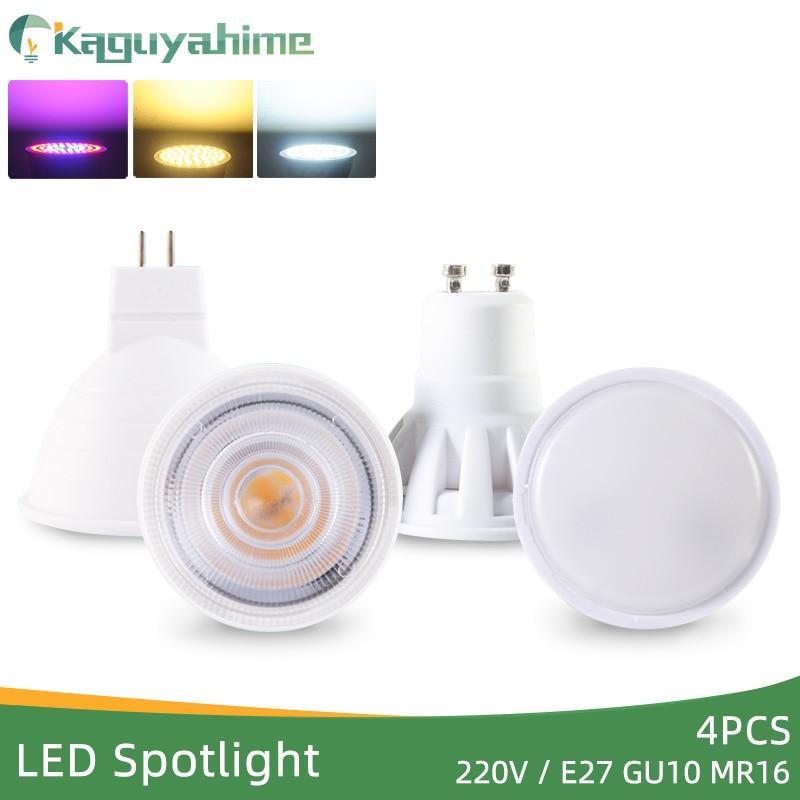 Kaguyahime 4Pcs LEDE27 Gu10 Mr16 LED Spotlight Grow Light Spot Lamp Bulb AC 220V Growth 3W 4W Lampada Lampara Full Spectrum