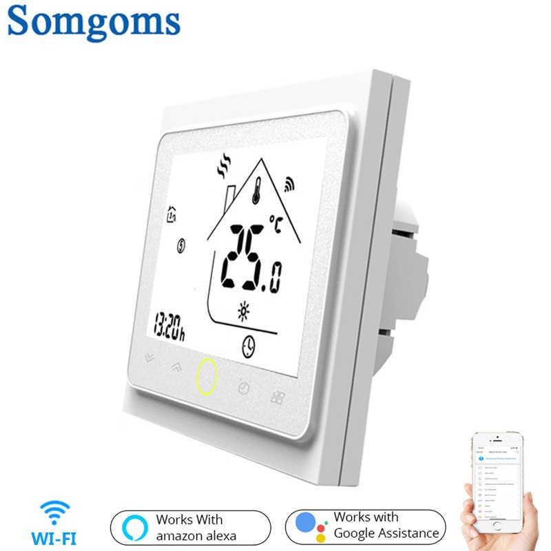 Termostato de contacto inteligente WiFi controlador de temperatura para agua/calefacción eléctrica de suelo Agua/caldera de Gas Tuya APP Control remoto