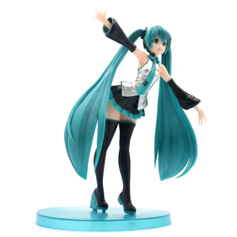 New Anime Hatsune Miku Action Figure Toys Commercial Anime Cosplay Action Toy Figure Hand Model
