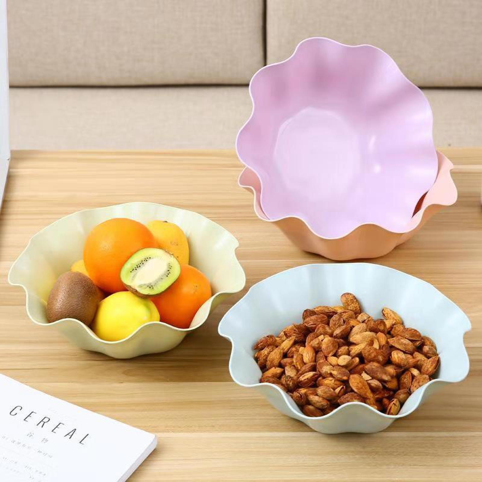Nordic Style Living Room Lotus Leaf Nut Plate Office Desktop Fruit Snake Storage Tray