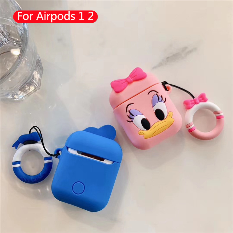 Cubierta carga auriculares CDG de dibujos animados transparente caliente para AirPods Apple 1 2 PC blanca Bluetooth auriculares