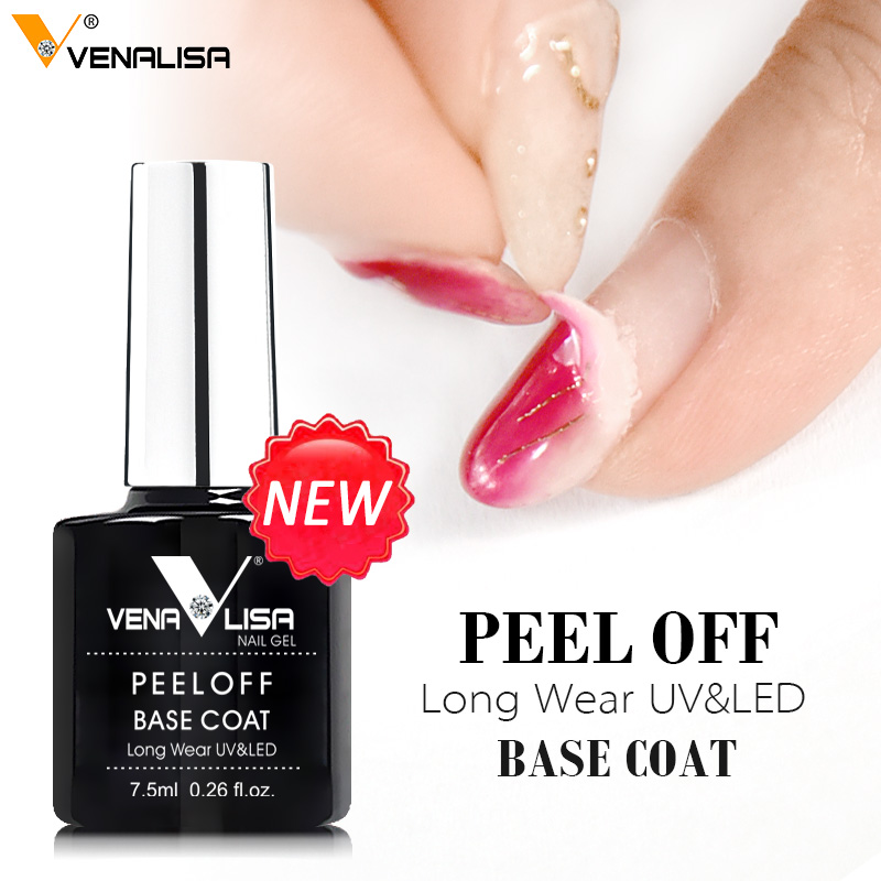 VENALISA New Arrival Easy Peel Off Water Base Coat Long Wear Tempered Nowipe Top Coat Basic Nail Gel Polish Enamel Varnish Gels