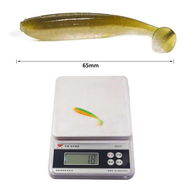 1-10 قطعة 1.8 جرام 6.5 سنتيمتر سيليكون طُعوم لينة قطعة الاصطناعي معالجة الطعم السلع لصيد الأسماك البحر Pva swim Bait Wobblers