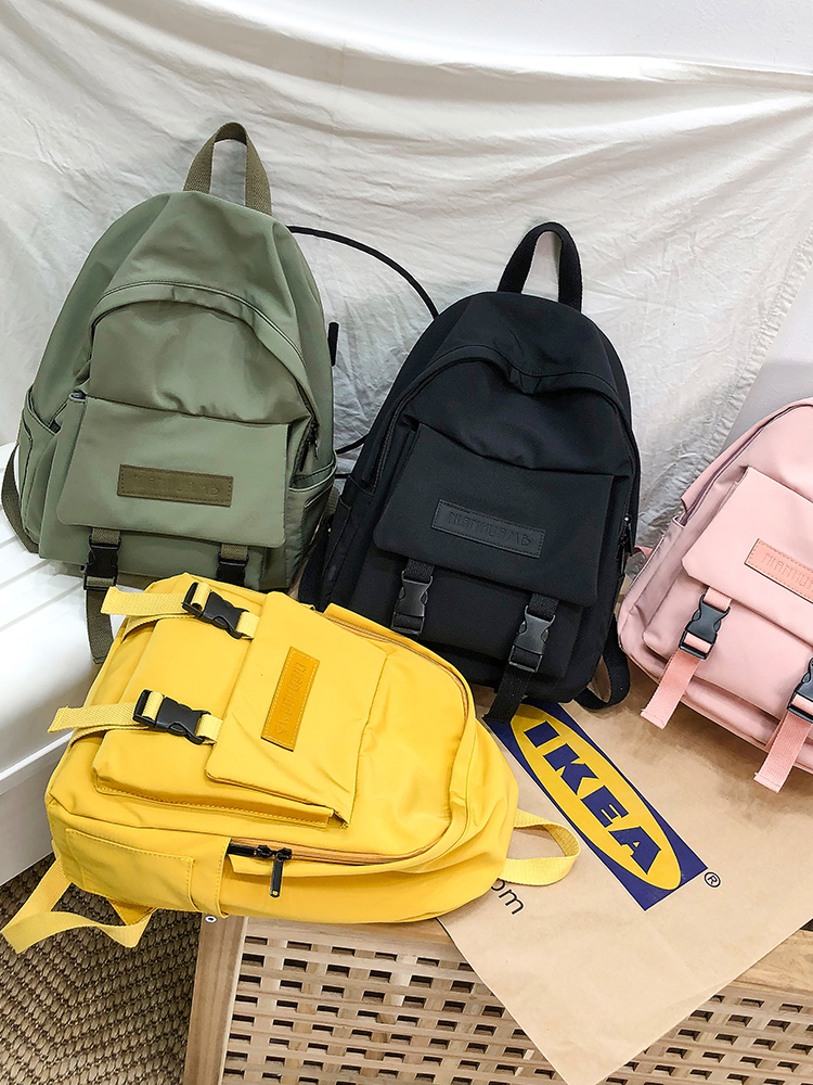 Backpack Shoulder-Bag Travel-Bag Teenage Girl Solid-Color Fashion Children Women