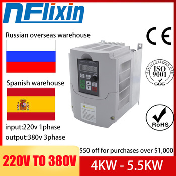 5.5kw/7.5kw/11kw/ 220v single phase input 380v 3 phase output AC Frequency Inverter ac drives /frequency converter 220v/to380v image