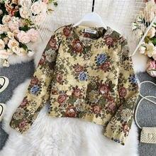 Женское пальто осень зима винтажные куртки с круглым вырезом