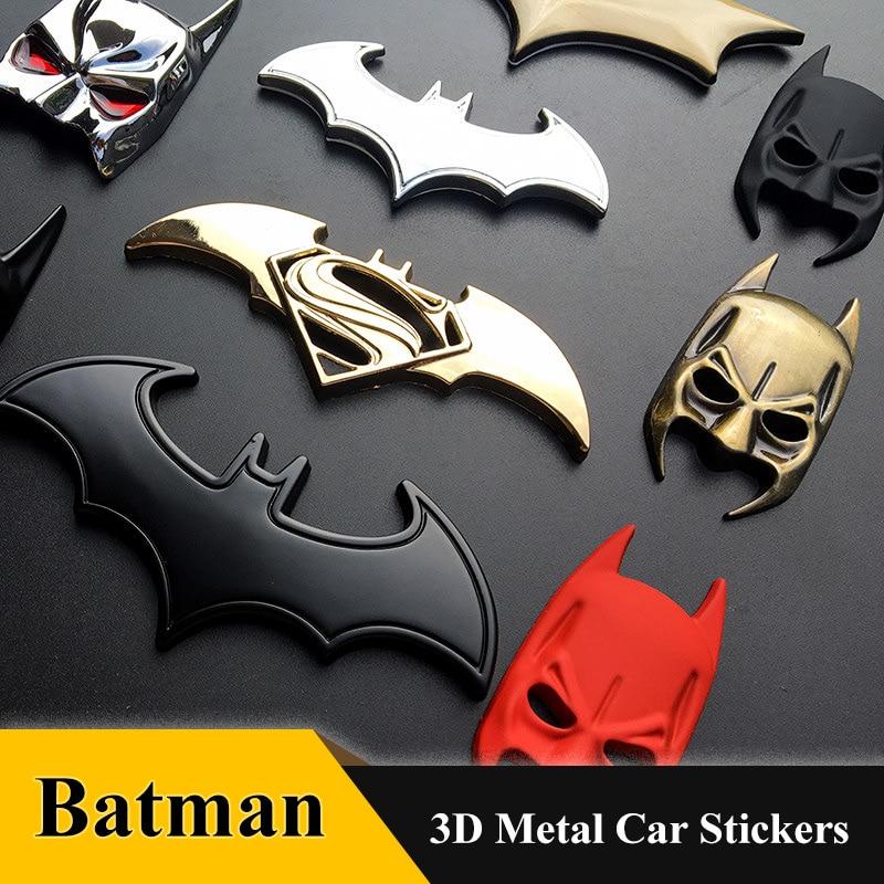 3D Car Stickers Cool Metal Bat Auto Logo Car Styling Metal Batman Badge Emblem Tail Decal Motorcycle Car Accessories Automobiles
