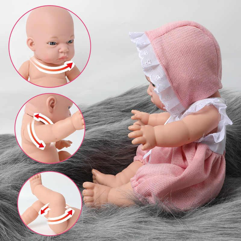 12 นิ้ว Bebe Reborn ตุ๊กตาซิลิโคนเต็มรูปแบบกันน้ำ DROP-resistant 30.5 ซม.ทารกแรกเกิดที่สมจริงนมขวดสำหรับของเล่นเด็ก